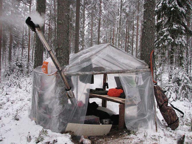 Как сделать дом в лесу своими руками