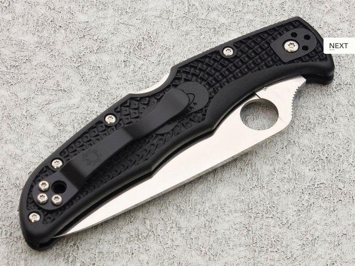 Нож Spyderco Endura Flat Groud с черной ручкой