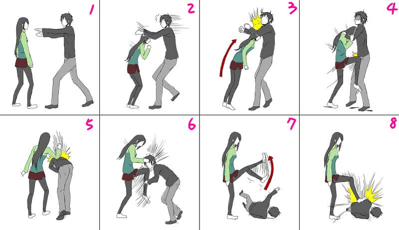 нереальные способы самообороны для женского пола