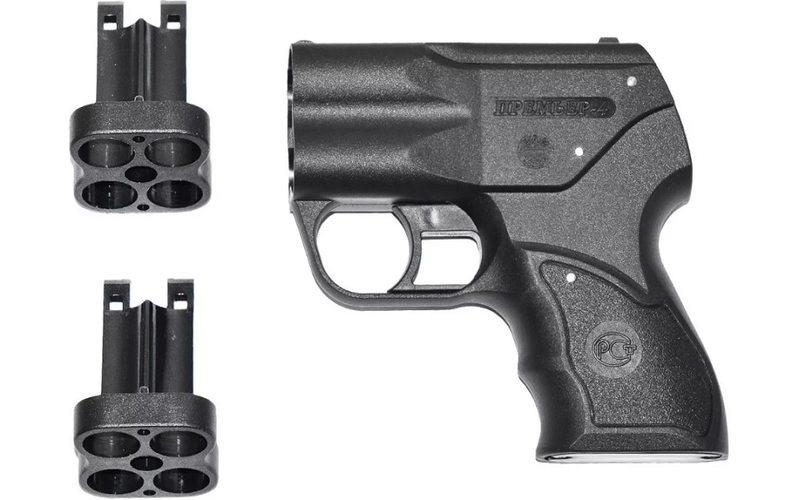 Аэрозольный пистолет Премьер 4 с ЛЦУ (четырёхствольное устройство для самообороны)