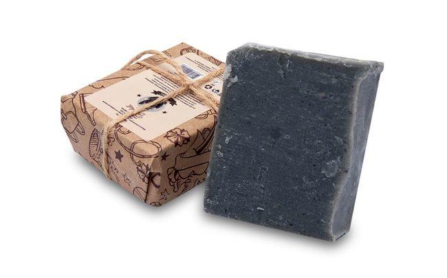 Мыло с древесным углем и отшелушивающим эффектом