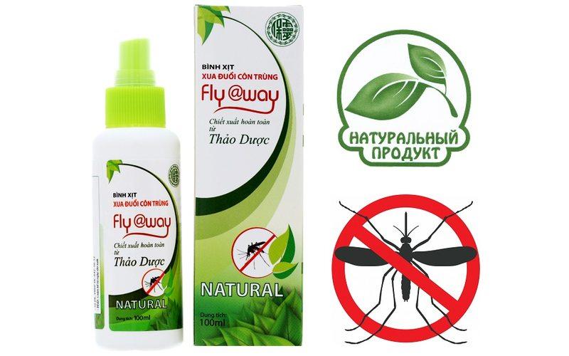 Натуральный репеллент от комаров Fly@Way, Bao Linh (60 мл)