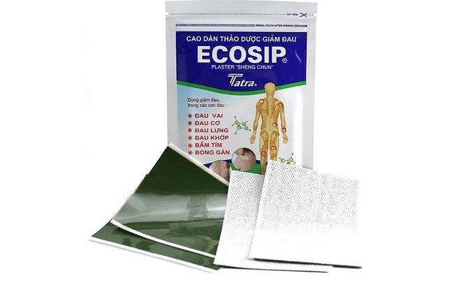 Ecosip пластырь для суставов