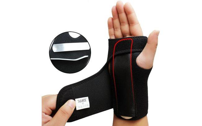 Бандаж для кисти руки при растяжениях и вывихах AOLIKES