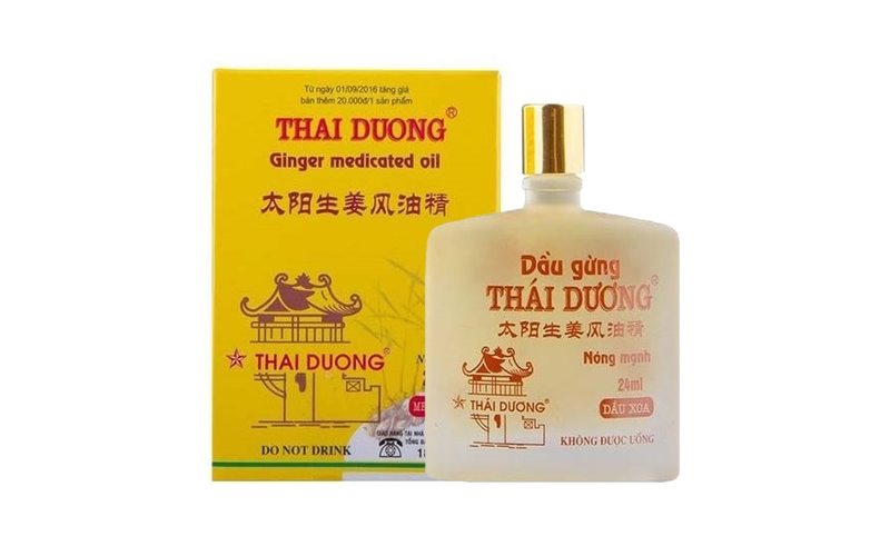 Имбирное масло Dau Phong Thap Gung для лечебного массажа (24 мл)