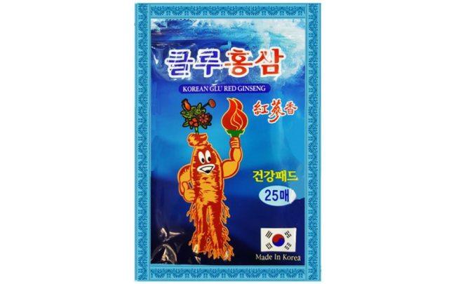 Корейский пластырь с глюкозамином и женьшенем