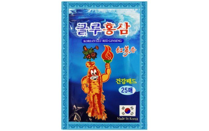 Пластырь Korean Glu Red Ginseng с глюкозамином