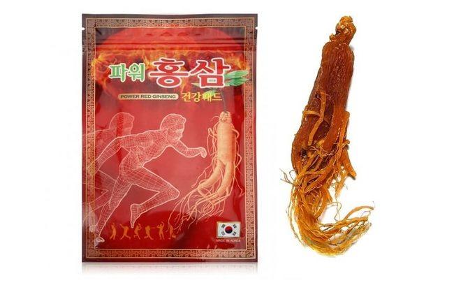 Power Red Ginseng пластырь с красным женьшенем