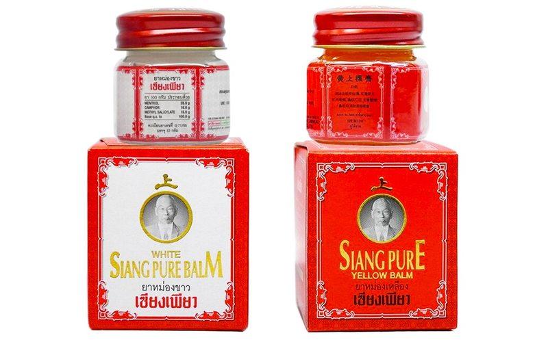Тайский белый бальзам Siang Pure при травмах и простуде: способы применения и инструкция