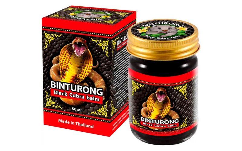 Черный бальзам для тела с ядом кобры Black Balm with Cobra venom, Binturong (50 мл)