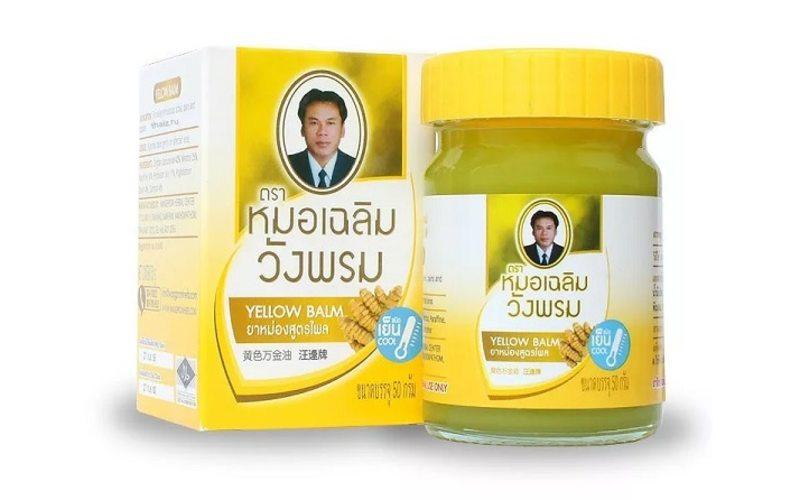 Жёлтый Тайский бальзам с имбирём (50 г.)