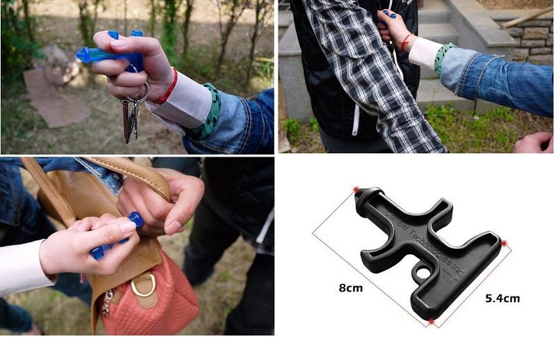 варианты самообороны с брелком для ключей stinger