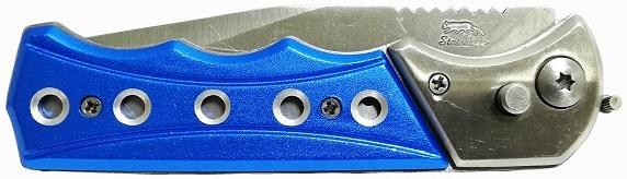 синяя ручка у складного ножа
