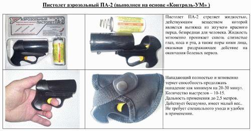 Пистолет газовый балончик